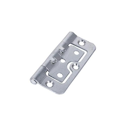 TIMCO Security & Ironmongery Pair of Hurlinge Hinges - Fixed Pin - Steel - Zinc  75 x 55 104 Hurlinge - BZP