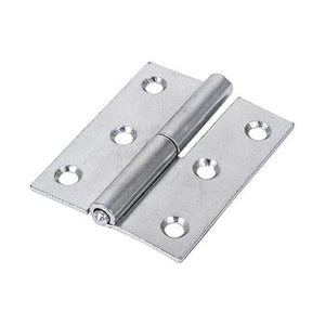 TIMCO Security & Ironmongery Pair of Lift Off Hinges - Right Hand - Steel - Zinc  75 x 62 457 Lift Off Hinge Right - BZP