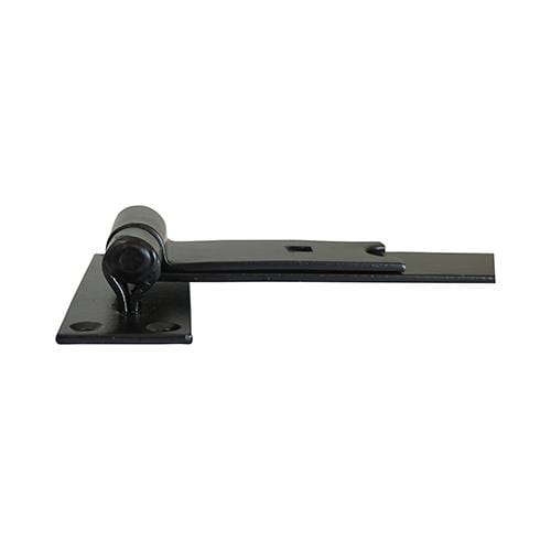TIMCO Security & Ironmongery Pair of Straight Band & Hook On Plates - Black  250mm Straight Band Hook Plate Black