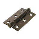 TIMCO Security & Ironmongery Pair of Twin Ball Bearing Hinges - Steel - Antique Brass  76 x 51 Steel BB Hinge Ant. Brass