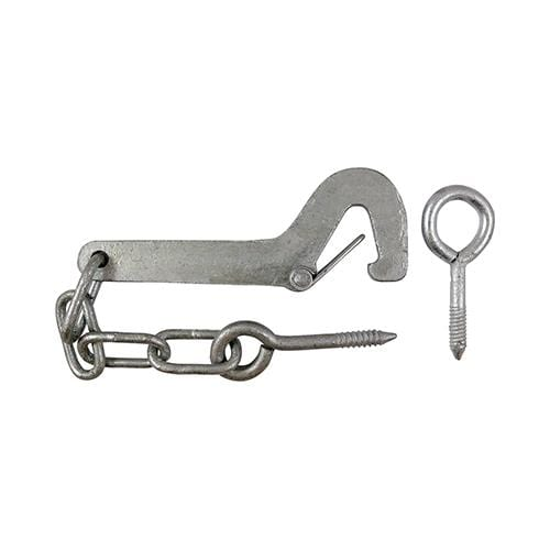 TIMCO Security & Ironmongery Safety Gate Hook & Eye - Hot Dipped Galvanised  150mm Safety Gate Hook and Eye HDG