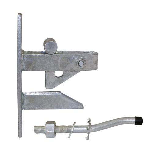 TIMCO Security & Ironmongery Self Locking Gate Catch With Cranked Striker - Hot Dipped Galvanised    Self Locking Gate Catch HDG