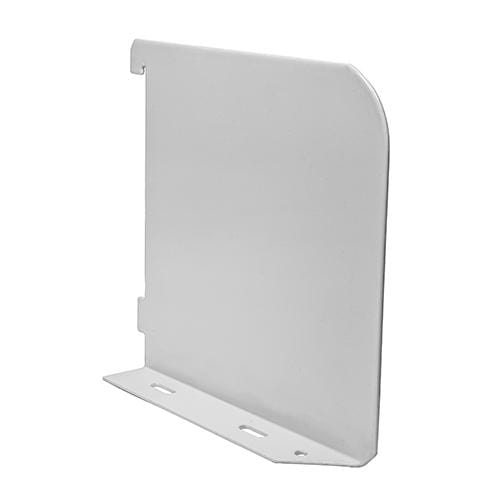 TIMCO Security & Ironmongery Twin Slot Shelf End - White  150mm Shelf End White