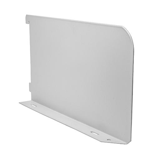 TIMCO Security & Ironmongery Twin Slot Shelf End - White  200mm Shelf End White