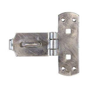 "TIMCO Security & Ironmongery Vertical Pattern Bolt On Hasp & Staple - Heavy Duty - Hot Dipped Galvanised  6"" Heavy Vertical HaspStaple HDG"