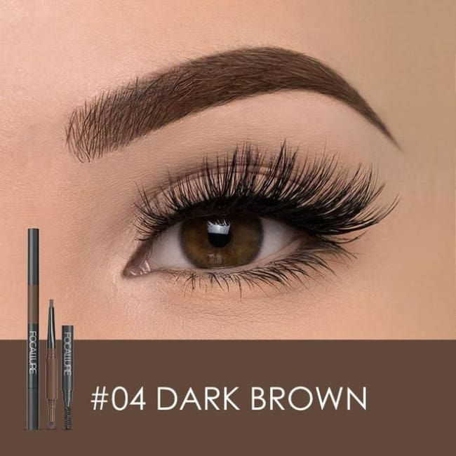 3 In 1 Waterproof Eye Pencil - Dark Brown