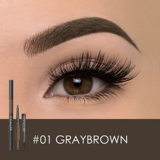 3 In 1 Waterproof Eye Pencil - Greybrown