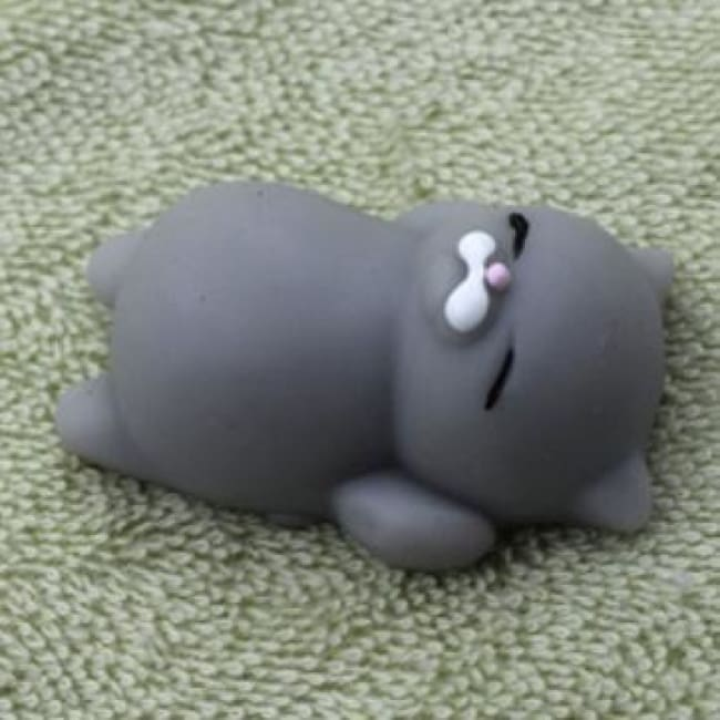 Adorable! Anti Stress Color Change Squishy Pets! - Grey Kitty