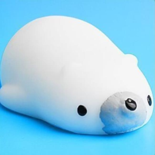 Adorable! Anti Stress Color Change Squishy Pets! - Polar Bear