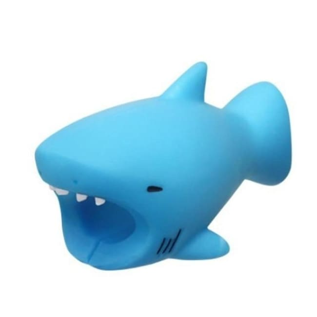 Adorable Iphone Cord Fray Protecting Buddy! - Shark