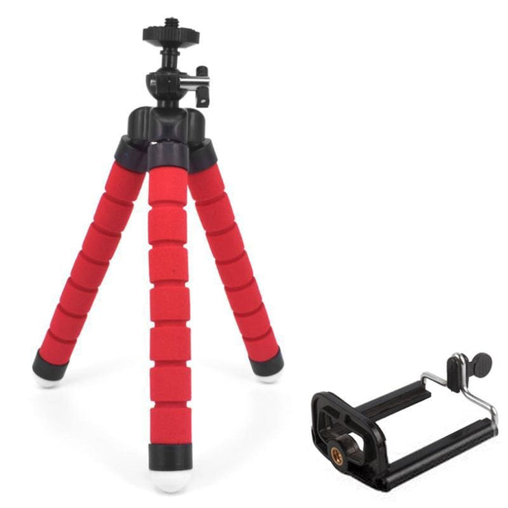 Attach Anywhere - Flexible Smartphone Tripod Awesome For Influencers! - Red + Clip