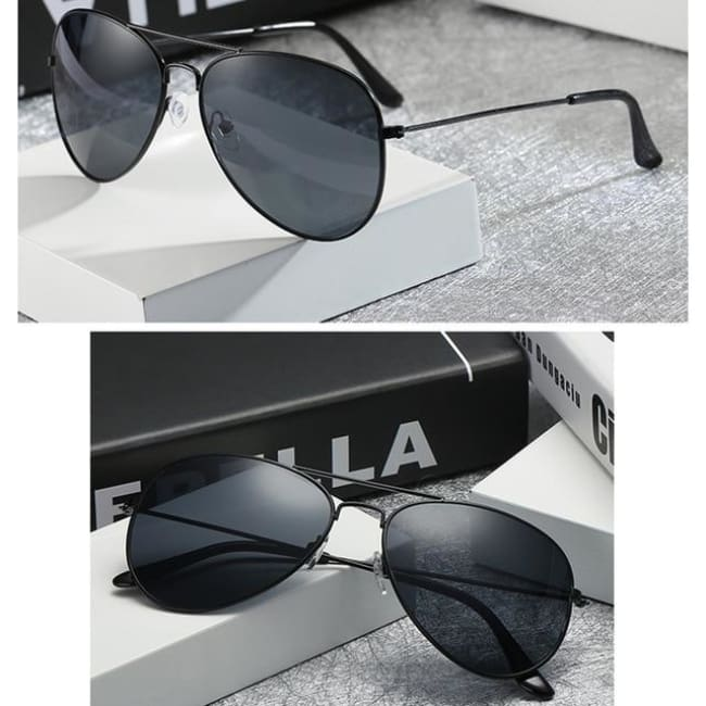 Free Giveaway - Top Gun Aviators - Black-Gray
