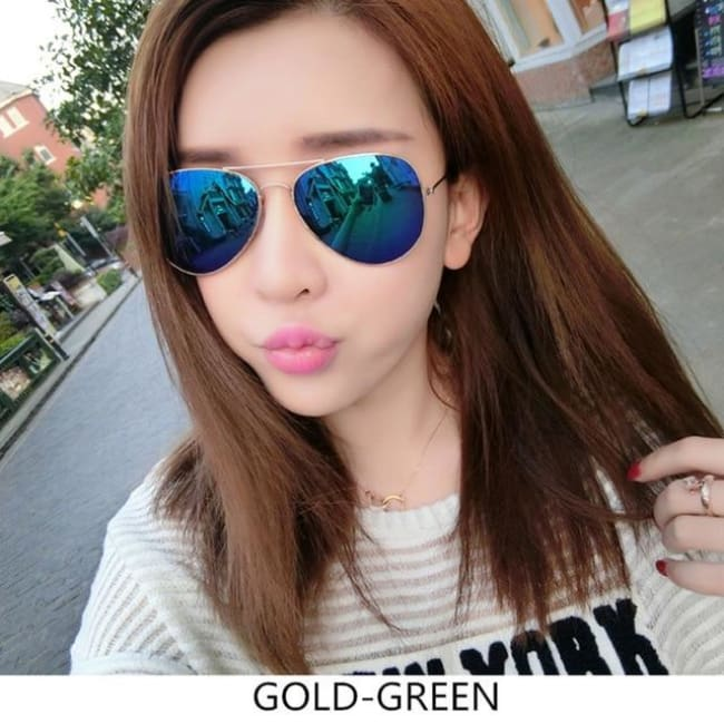 Free Giveaway - Top Gun Aviators - Gold-Green