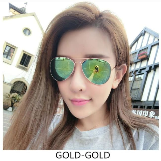 Free Giveaway - Top Gun Aviators - Gold-Gold