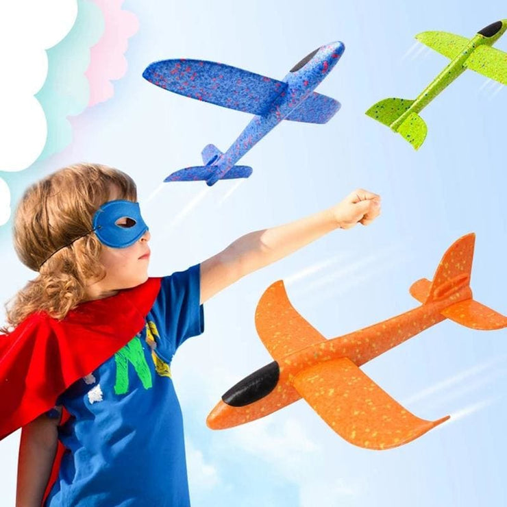 Fun Foam Flying Glider Planes! Kids Toy