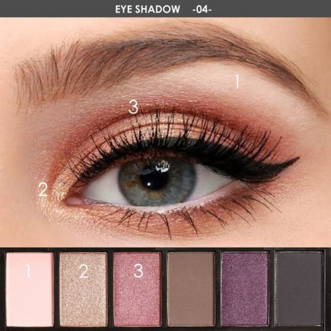 Glamorous 6 Color Eyeshadow Palette - 4