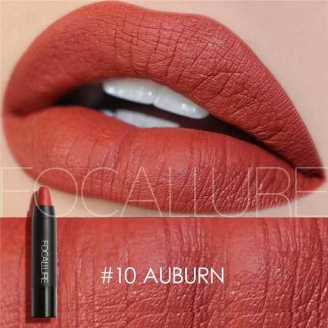 Waterproof Matte Lipstick In 19 Colors - Auburn