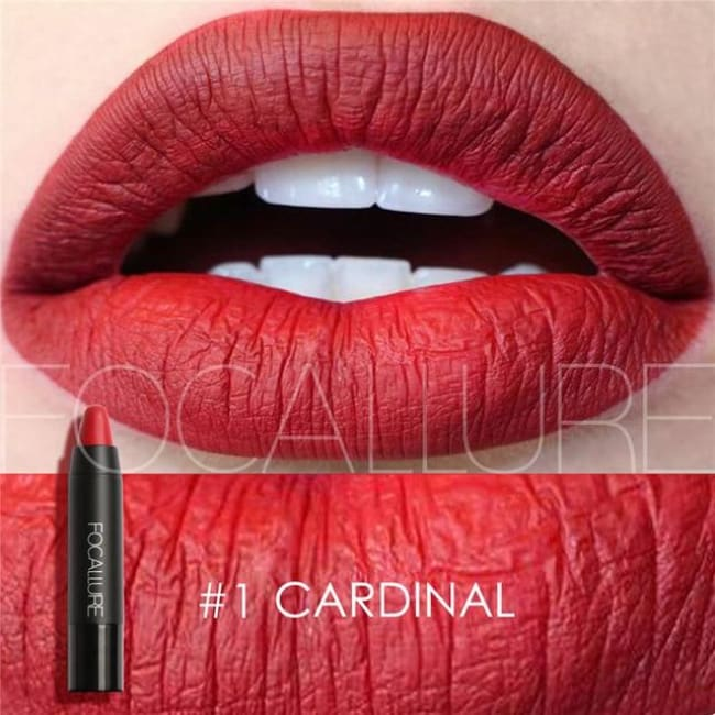 Waterproof Matte Lipstick In 19 Colors - Cardinal