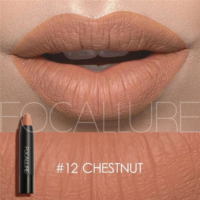 Waterproof Matte Lipstick In 19 Colors - Chestnut