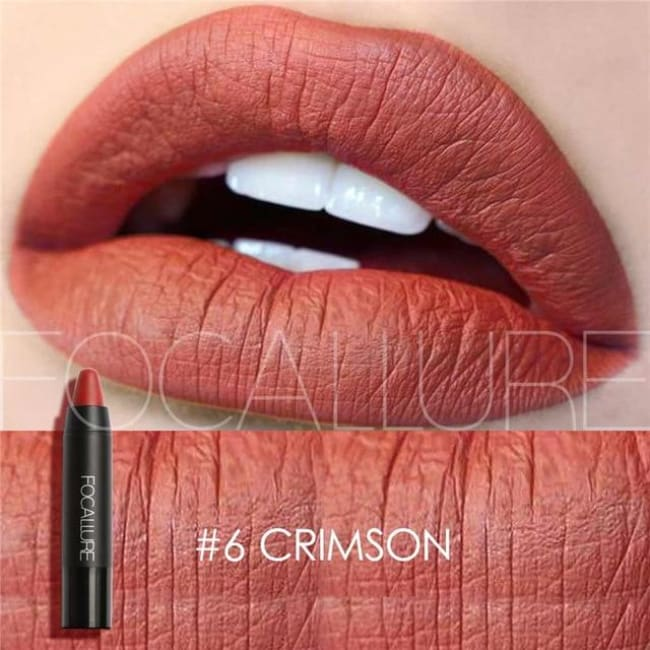 Waterproof Matte Lipstick In 19 Colors - Crimson