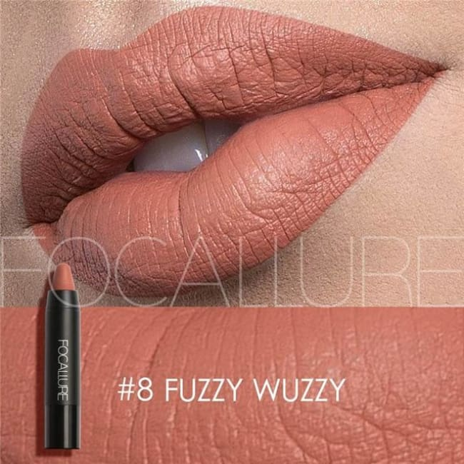 Waterproof Matte Lipstick In 19 Colors - Fuzzy Wuzzy