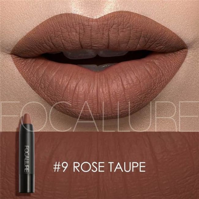 Waterproof Matte Lipstick In 19 Colors - Rose Taupe