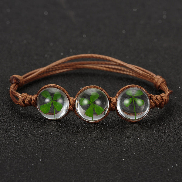 Real Glass Ball Woven Bracelet