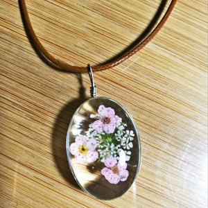 Handmade Natural Dried Eternal Flower Specimens Necklace