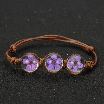 Handmade Dried Flower Bracelets