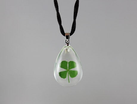 Real Four Leaf Clover Necklace
