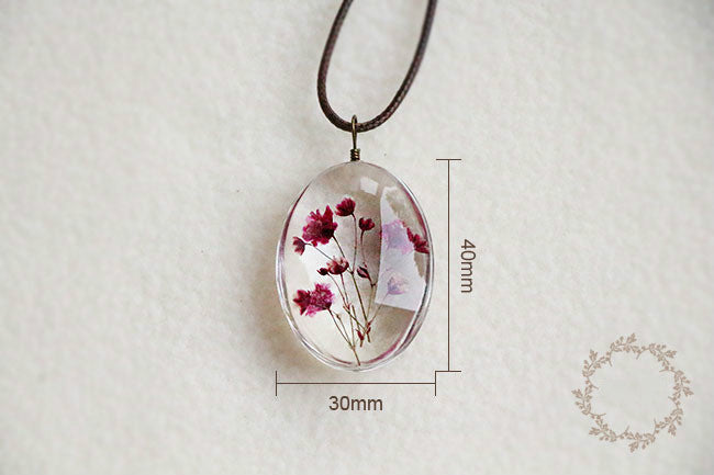 Handmade Dried Flower Necklaces