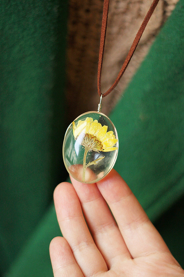 Handmade Natural Dried Flower Necklace
