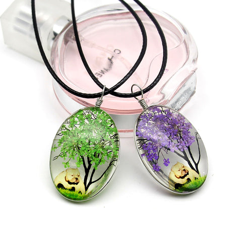 Creative Handmade Dried Flower Necklace