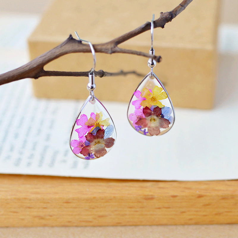 Handmade Dried Flower Earrings