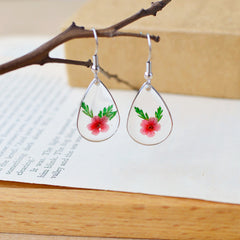 Natural Dried Flower Cute  Earrings