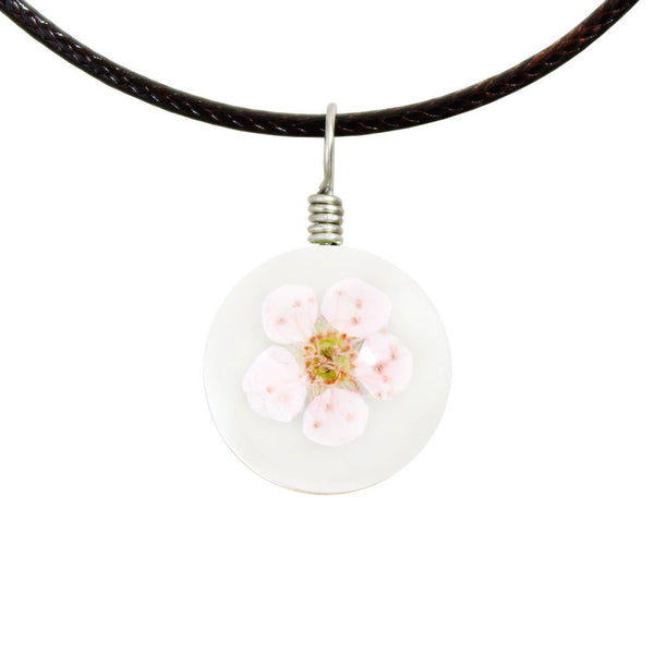 Crystal Glass Ball Dried Flower Necklace