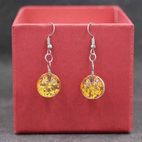 Real Dried Flower Earrings