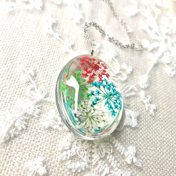New Fashion Color Dried Flower Necklace
