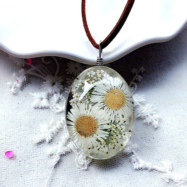 Handmade Natural Dried Flowers Necklaces