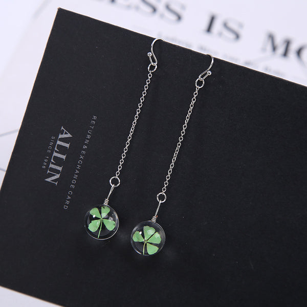 Lucky Clover Long Earrings