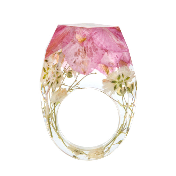 Handmade Dried Flower Resin Ring
