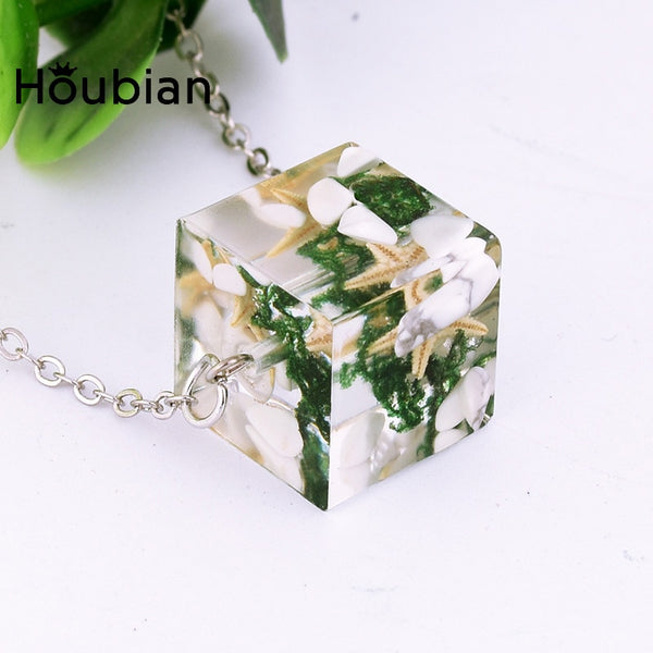 Creative Resin Dry Flower Short Necklace