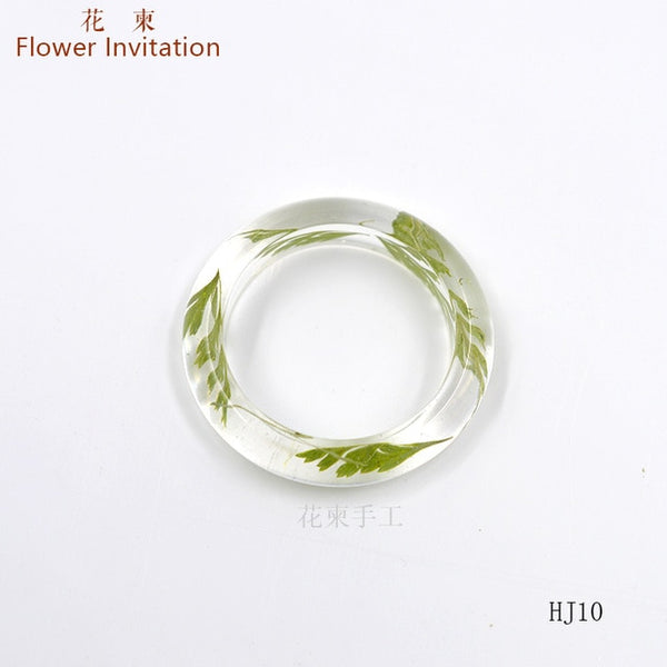 Real Dried Flower Resin Ring