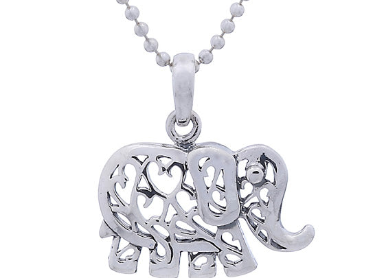 Sterling Silver Filigree Elephant