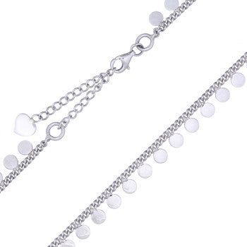 Sterling Silver Drop Circles Choker Necklace