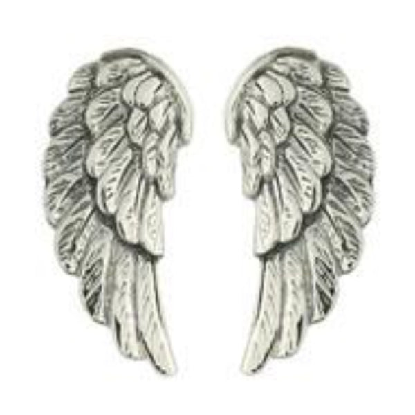 Sterling Silver Angel Wing Studs