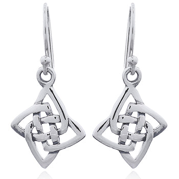 Sterling Silver Celtic Knotwork Drop Earrings