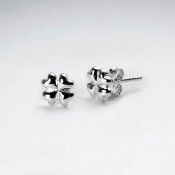 Sterling Silver Clover Studs
