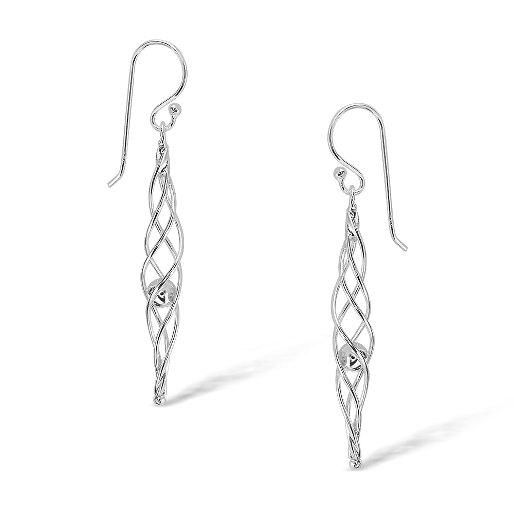 Sterling Silver Twist Drops