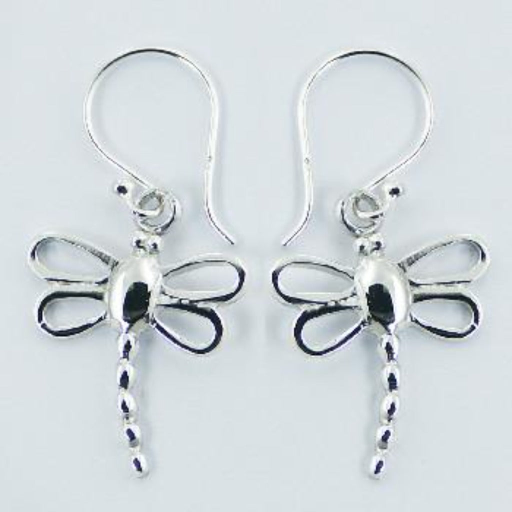 Sterling Silver Small Dragonfly Drops
